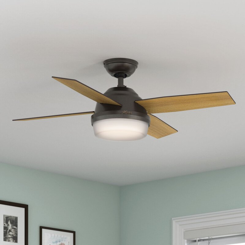 """Hunter Fan 44"""" Dempsey 4 - Blade LED Standard Ceiling Fan ..."""