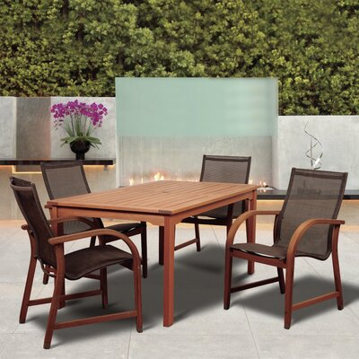 Grice International Home Outdoor 5 Piece Dining Set by Ebern Designs Coupon