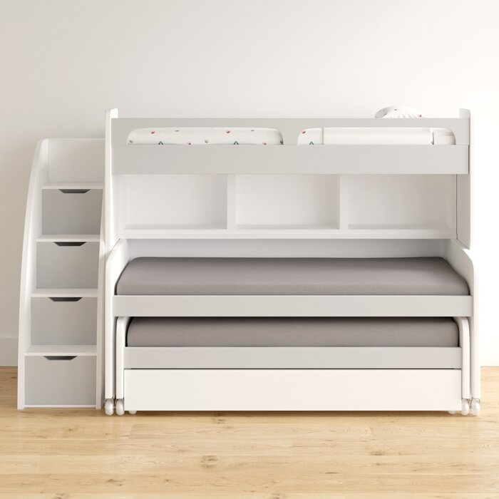 Gautreau Twin L Shaped Bunk Bed With Trundle