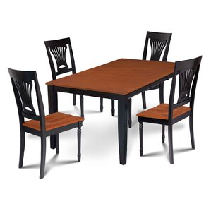Charlestown 5 Piece Black and Cherry Dining Set by Alcott Hill