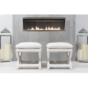 Darby Home Co Wellesley bench (Set of 2)