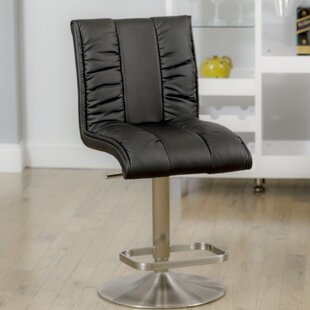 Duechle Mix Adjustable Height Swivel Bar Stool by Orren Ellis Find