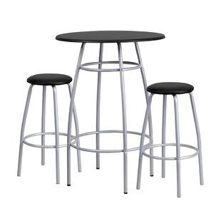 Jaylen 3 Piece Pub Table Set Ebern Designs