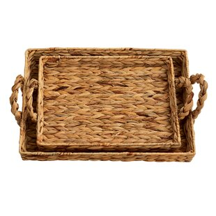 Excellent Water Hyacinth Tray | Wayfair YX45