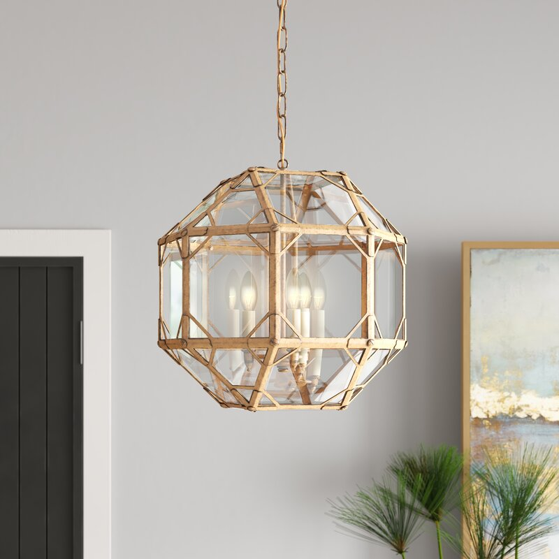 Lynette 3 Light Unique Statement Geometric Chandelier Reviews Joss Main