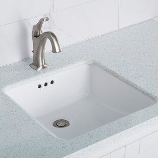 Coupon Elavo Ceramic Square Undermount Bathroom Sink with Overflow By Kraus