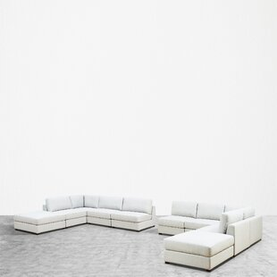 Mekhi Reversible Modular Sectional with Ottoman