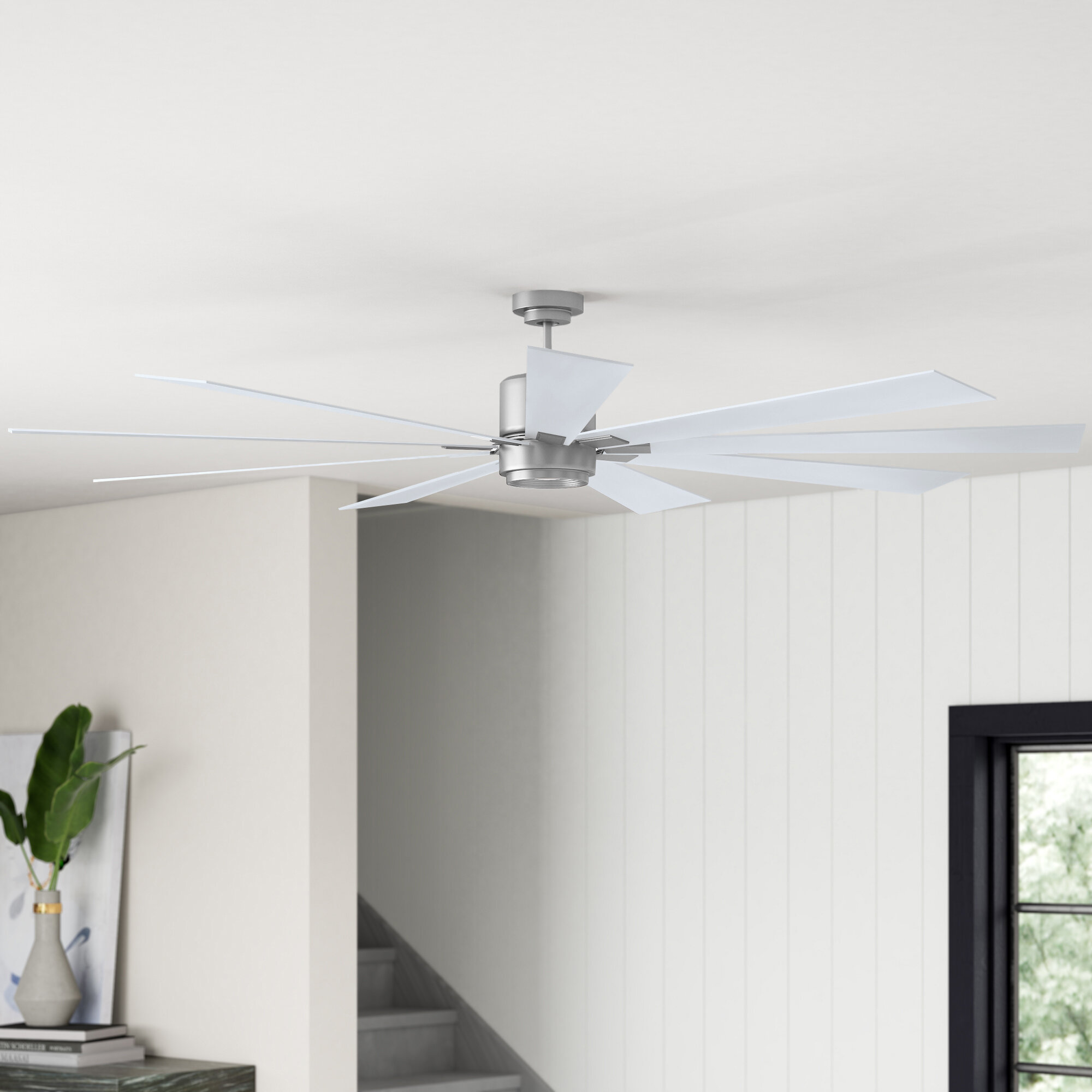 72 9 Blade Led Standard Ceiling Fan With Wall Control And Light Kit Included Reviews Joss Main