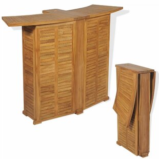 Eugenia Folding Teak Bar Table By Bay Isle Home