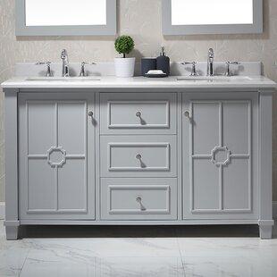 Positano 60 Double Bathroom Vanity Set by Ove Decors