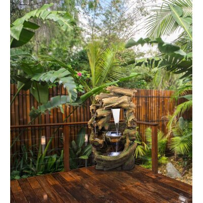 Alpine Rainforest Waterfall Fountain with LED Light