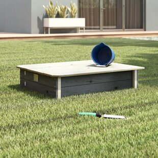 Aksent Rectangular Sandbox With Cover By Exit Toys