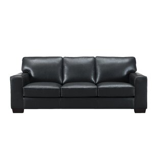 Van Nest Craft Leather Sofa Latitude Run
