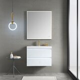 Fahriye LED Lighted 29 Wall-Mounted Single Bathroom Vanity Set with Mirror by Orren Ellis