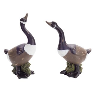 Darby Home Co Besaw Goose Statue (Set of 2)