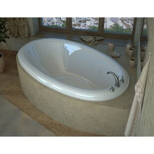 Martinique 78 x 44 Oval Air/Whirlpool Jetted Bathtub with Center Drain By Spa Escapes