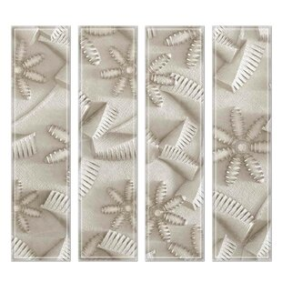"""Crystal 3"""" x 12"""" Beveled Glass Subway Tile in Slate by"""