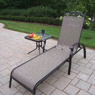 August Grove Basile Chaise Lounge with End Table
