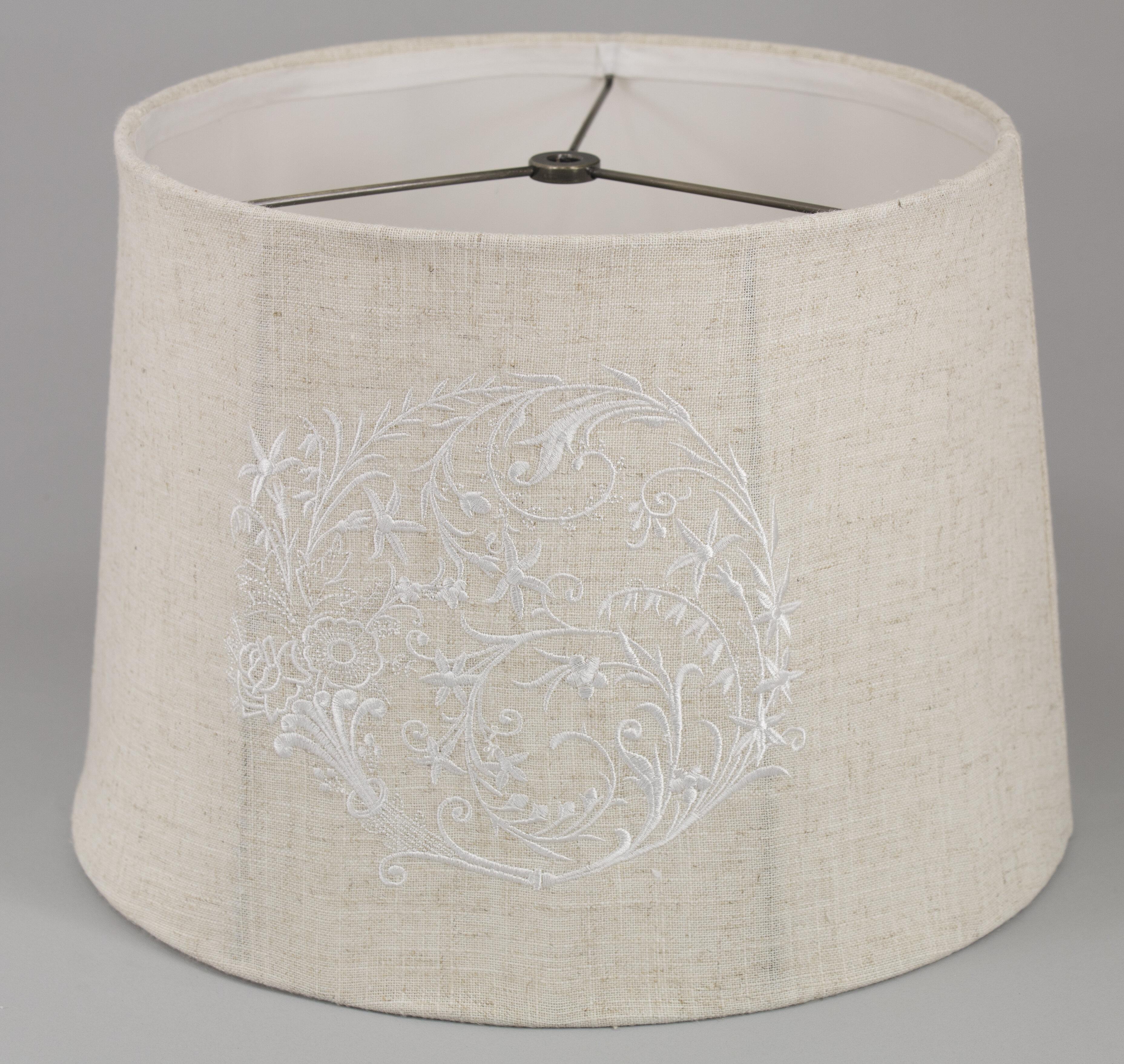 Charlton Home 8 H X 11 W Cotton Drum Lamp Shade Spider In Beige Wayfair