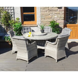 Spaldings 6 Seater Dining Set With Cushions By Sol 72 Outdoor