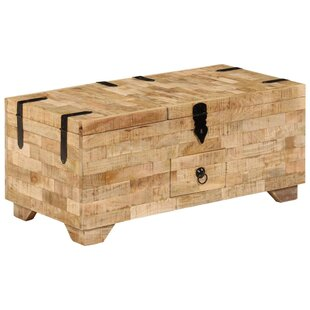 Eamon Solid Mango Wood Coffee Table With Storage By Union Rustic