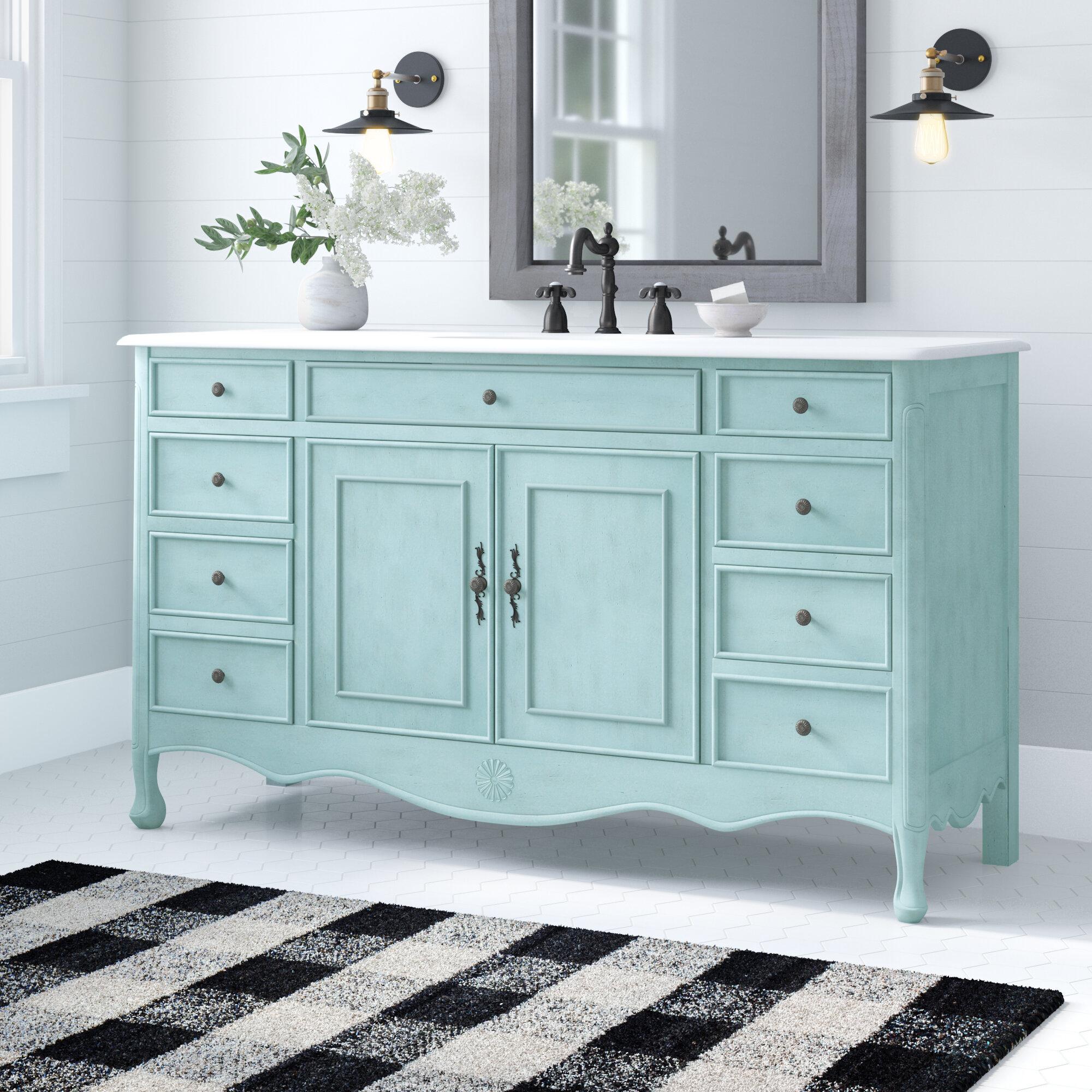 One Allium Way Genevieve 60 Single Bathroom Vanity Set Reviews Wayfair