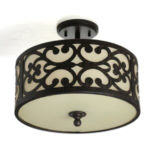 Fleur De Lis Living Aegean 3-Light Semi Flush Mount