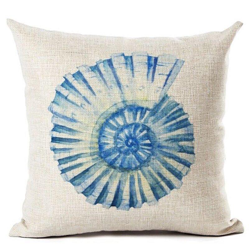Rosecliff Heights Robinson Sea Shell Cotton Throw Pillow Reviews Wayfair