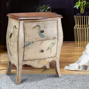 Delia 2 Drawer Nightstand by Rosecliff Heights