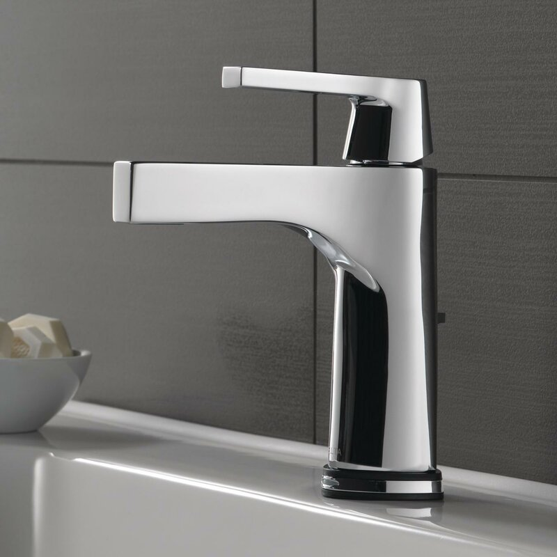 Zura Single Hole Bathroom Faucet with Drain Assembly and Diamond Seal Technology