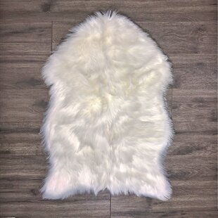 Affordable Price Merrimac Super Soft Sheepskin White Area Rug By Union Rustic