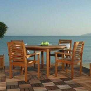 Beachcrest Home Flinn Milano 5 Piece Dining Set