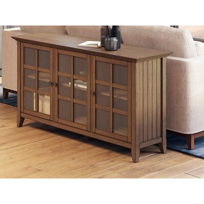 """Alcott Hill Seo 62"""" Wide Pine Wood Sideboard  Color: Rustic Natural Aged Brown"""
