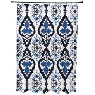 Bungalow Rose Meetinghouse Bombay Geometric Print Shower Curtain
