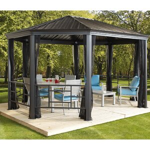 Komodo 15 Ft. W x 12 Ft. D Steel Permanent Gazebo