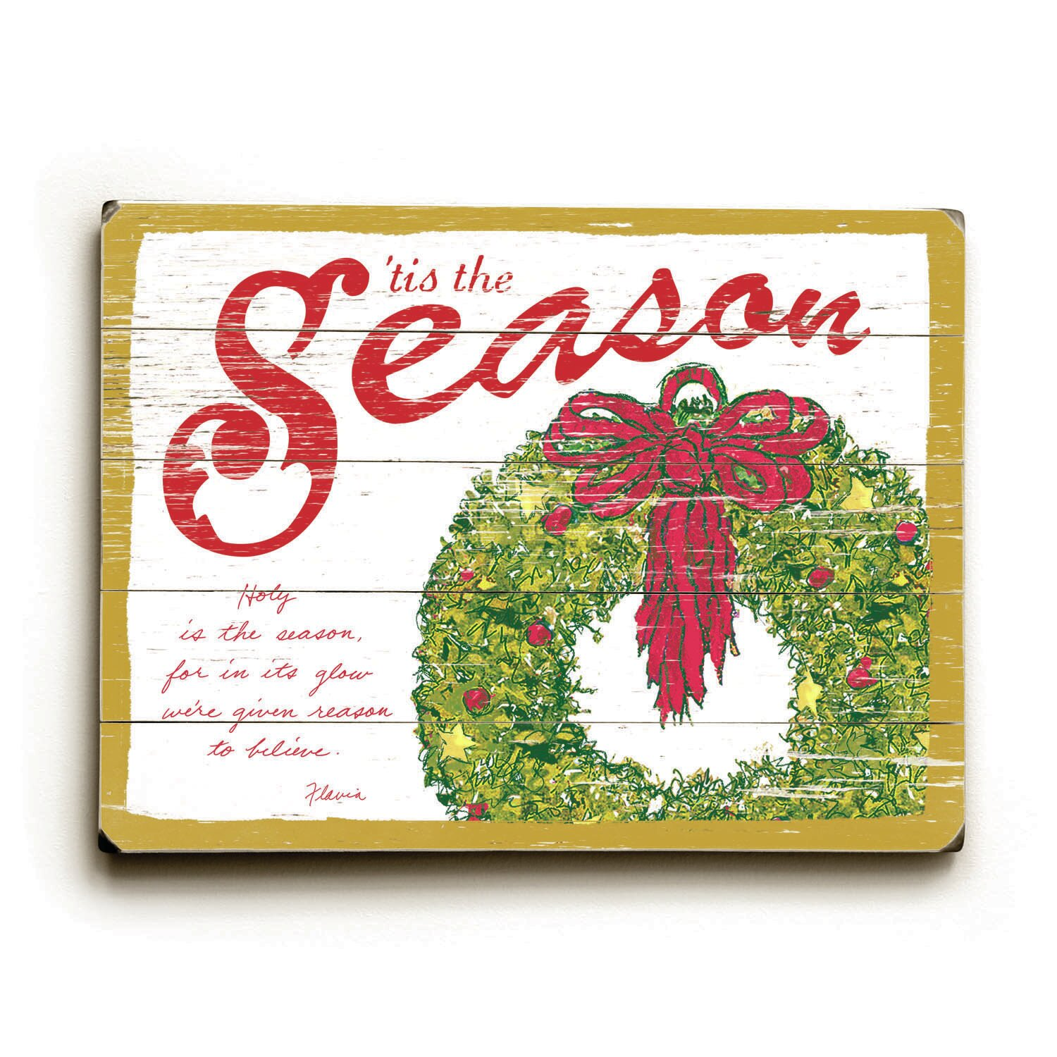 Red Barrel Studio Tis The Season Graphic Art Print On Wood Wayfair