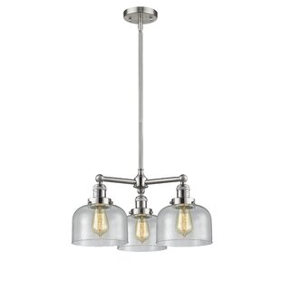 Searching for Ailbe Large Bell 3-Light Shaded Chandelier By 17 Stories