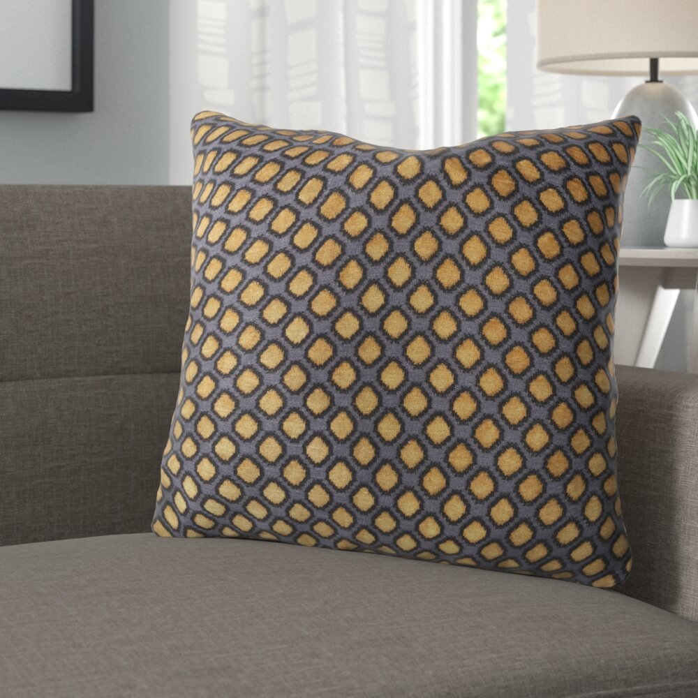 The Pillow Collection Elyes Geometric Throw Pillow Cover Rain