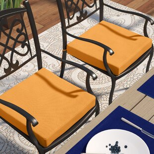 Knife Edge Indoor/Outdoor Sunbrella Dining Chair Cushion