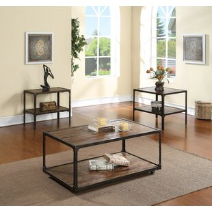 Drusilla 3 Piece Coffee Table Set