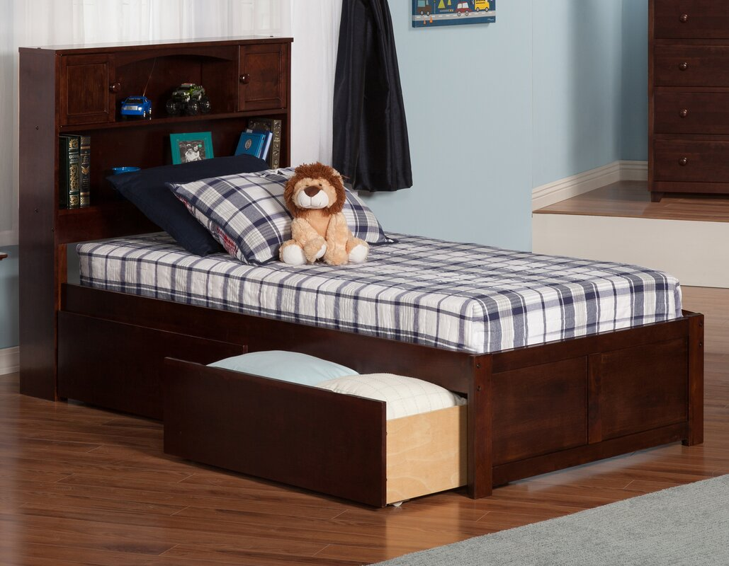 atlantic furniture newport extra long twin platform bed with  - defaultname