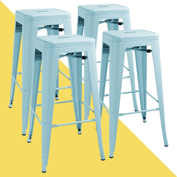 Awesome Turquoise Bar Stools Wayfair Squirreltailoven Fun Painted Chair Ideas Images Squirreltailovenorg