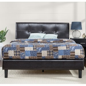 Stitched Upholstered Platform Bed by Zinus