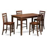 Araminta Counter Height Rubber Solid Wood Dining Set by Alcott Hill®