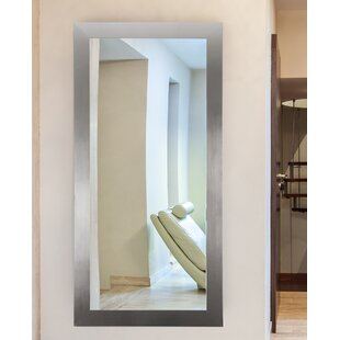 Latitude Run Sartain Modern Silver Wall Mirror