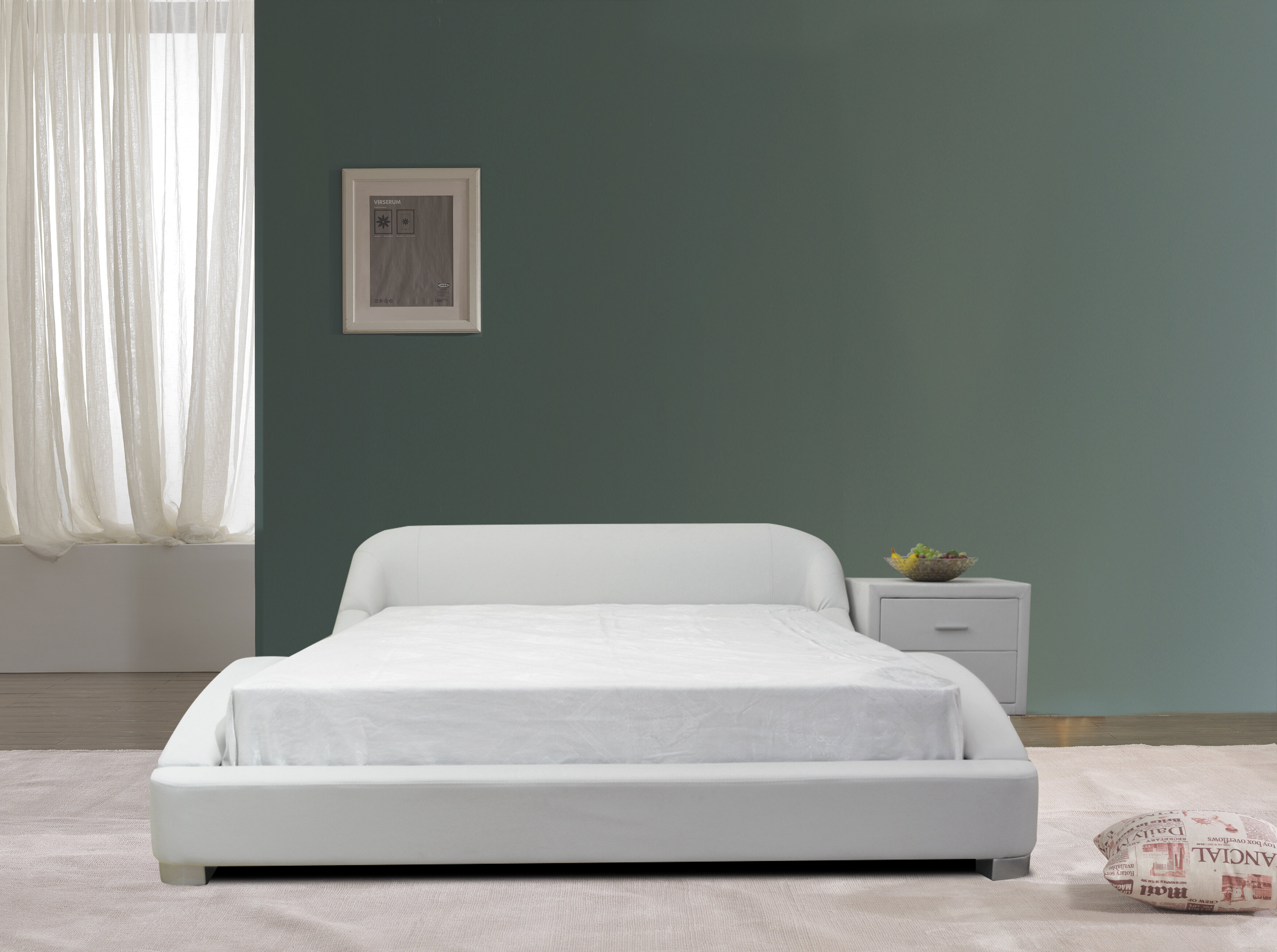 Picture of: Brayden Studio B1216 2 Modern Platform Bed Queen White Wayfair Ca