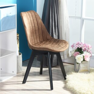 Deloris Upholstered Side Chair in Brown Set of 4