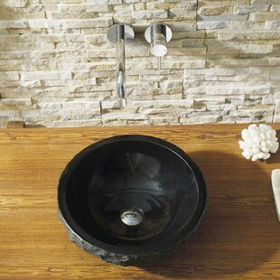 Virtu USA Melia Stone Circular Vessel Bathroom Sink