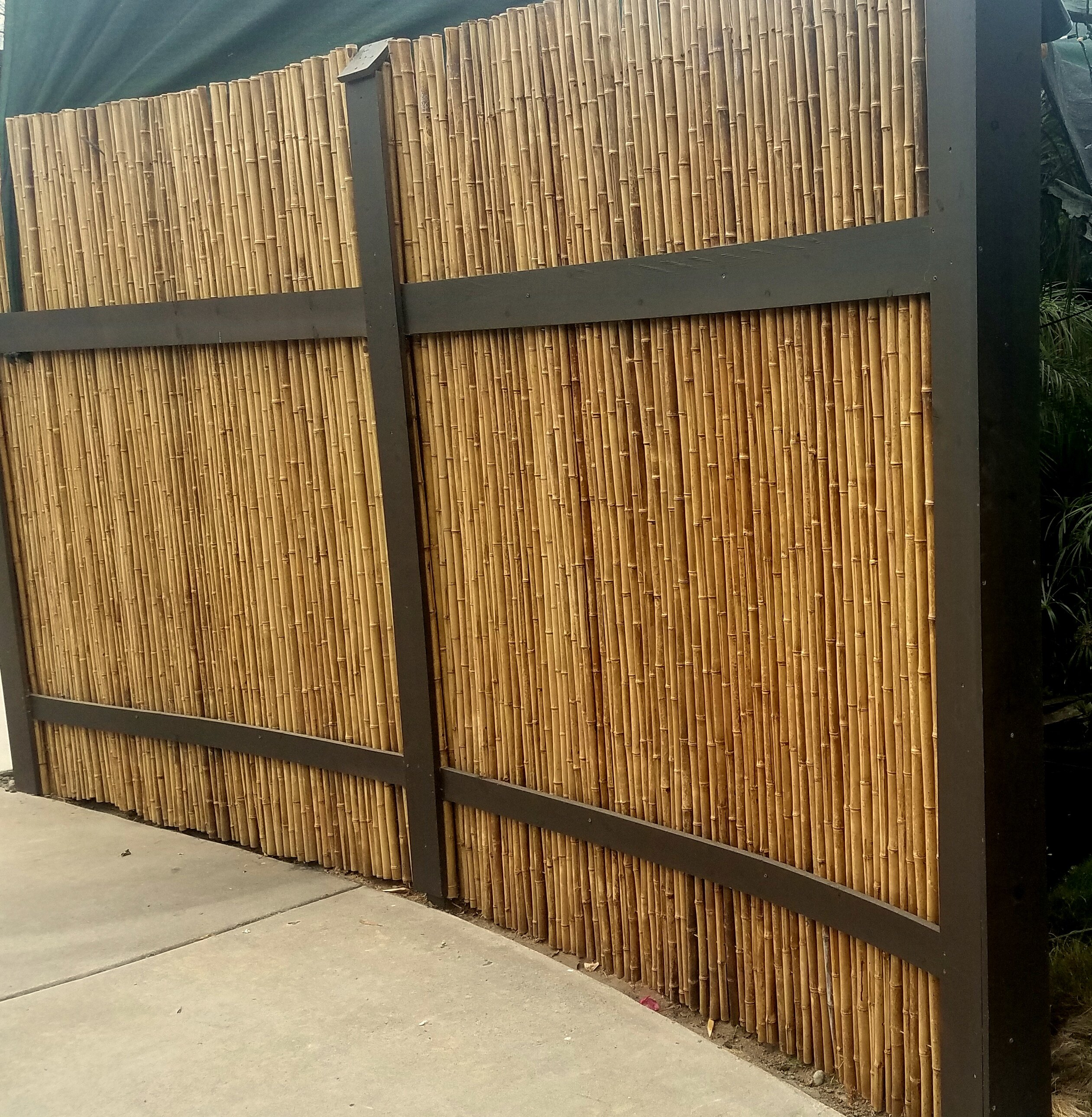 Backyard X Scapes Caramel Bamboo Reed Fence Panel Reviews Wayfair
