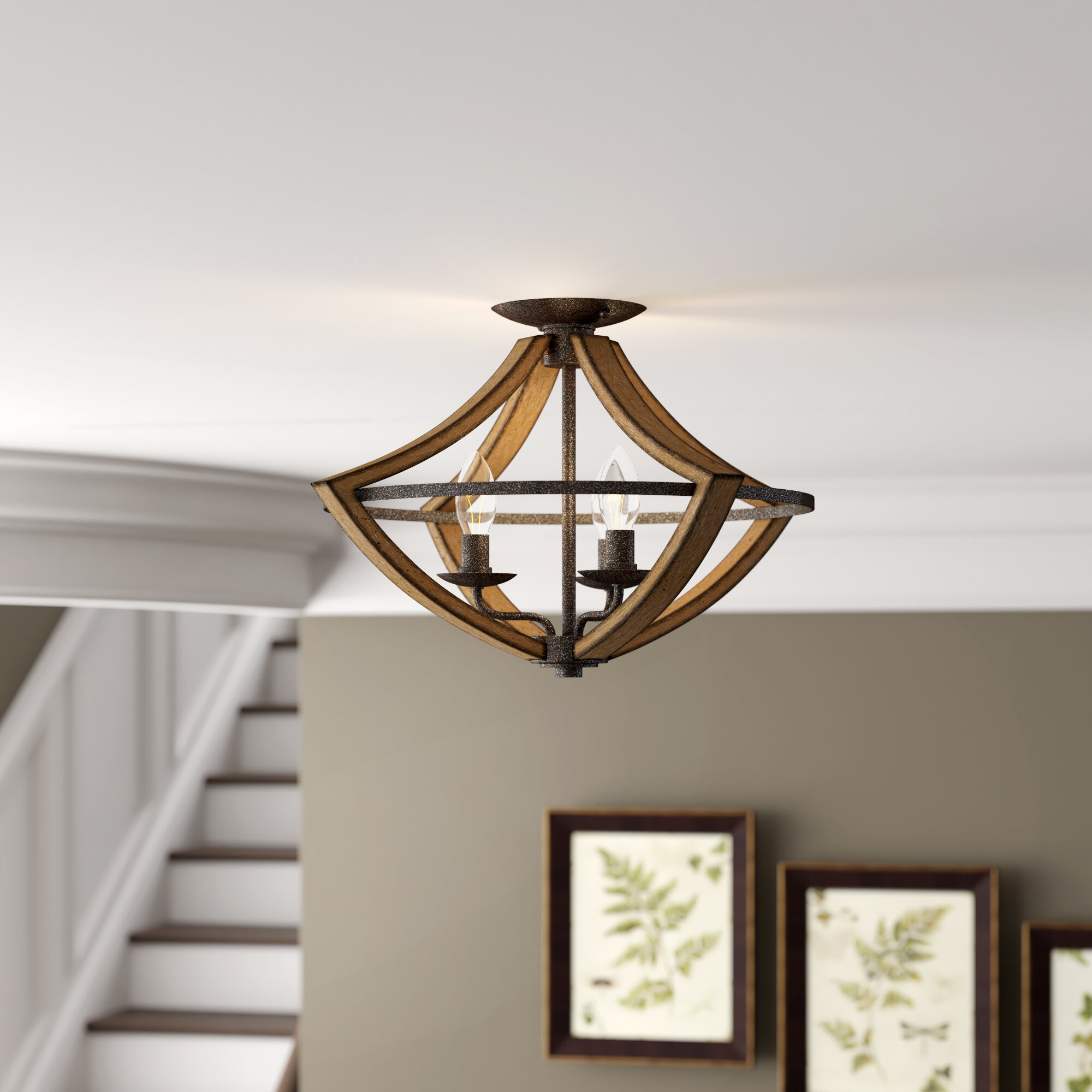 Claudia 3 Light 16 5 Semi Flush Mount Reviews Birch Lane
